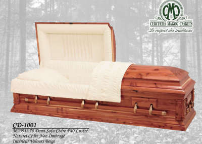 Cercueil en cèdre - Cercueils Magog