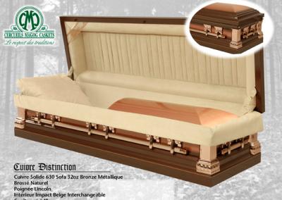 Cercueil en cuivre, bronze métallique - Cercueils Magog