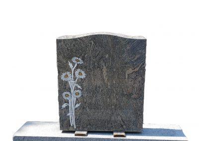 Monuments Bernard Longpré Inc. - Monument gravure marguerites